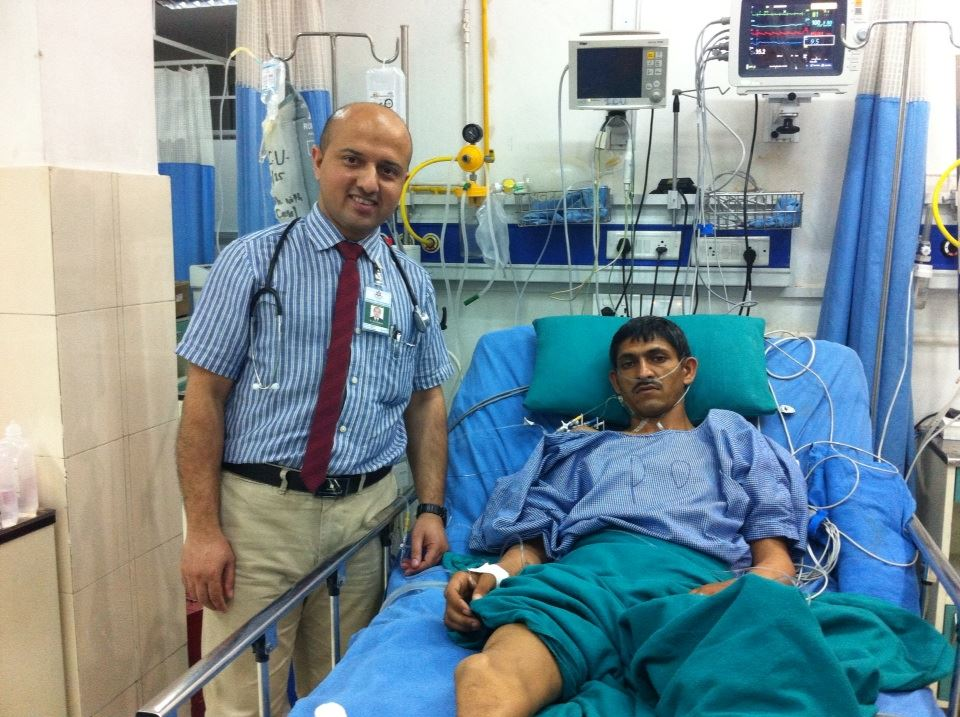 Dr. Bhattarai with patient