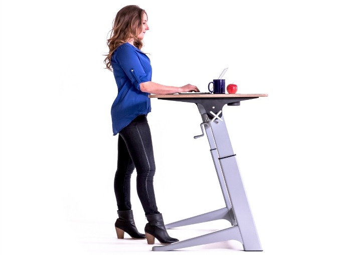 standing working