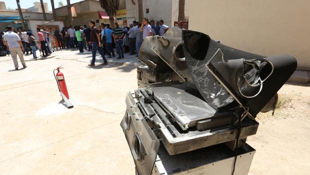 IRAQ-FIRE-MATERNITY-HOSPITAL